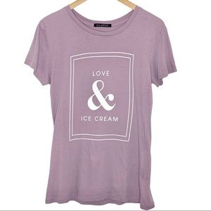 Wildfox Love & Ice Cream Short Sleeve Tee Large
